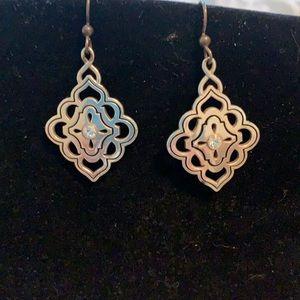 Brighton silver dangle earrings